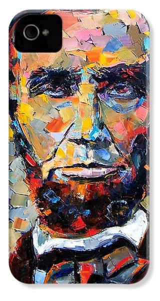 Abraham Lincoln Portrait IPhone 4 / 4s Case by Debra Hurd