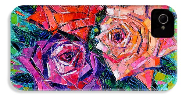 Abstract Bouquet Of Roses IPhone 4 / 4s Case by Mona Edulesco