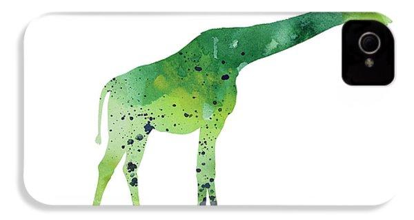 Abstract Green Giraffe Minimalist Painting IPhone 4 / 4s Case by Joanna Szmerdt