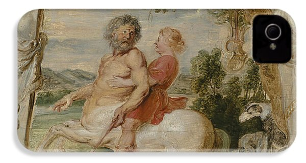 Achilles Educated By The Centaur Chiron IPhone 4 / 4s Case by Peter Paul Rubens