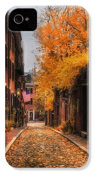 Acorn St. IPhone 4 / 4s Case by Joann Vitali