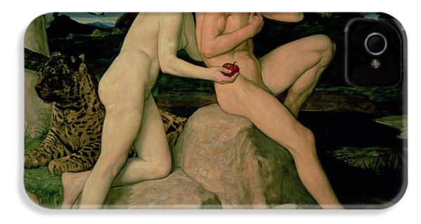 Adam And Eve  IPhone 4 / 4s Case by William Strang
