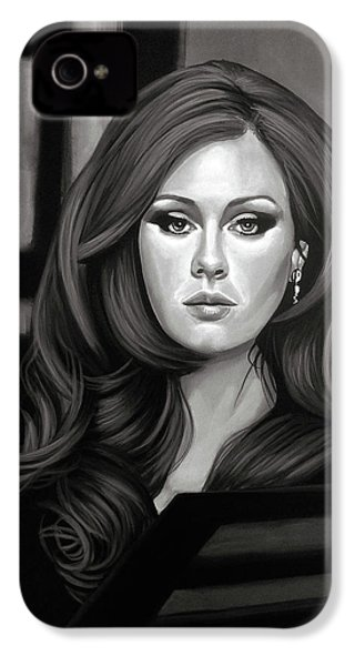 Adele Mixed Media IPhone 4 / 4s Case by Paul Meijering