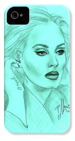 Adele IPhone 4 / 4s Case by P J Lewis