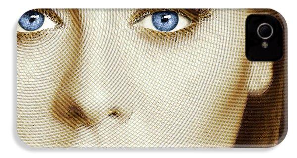 Adele Painting Circle Pattern 1 IPhone 4 / 4s Case by Tony Rubino