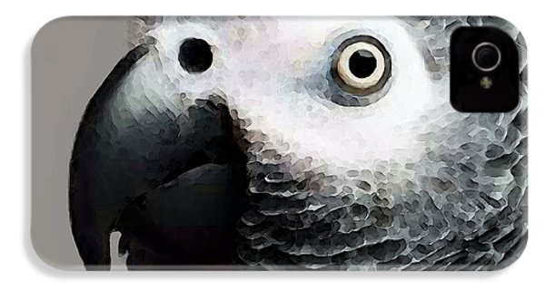 African Gray Parrot Art - Softy IPhone 4 / 4s Case by Sharon Cummings