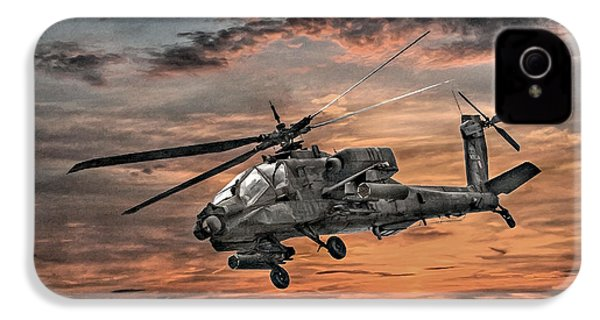 Ah-64 Apache Attack Helicopter IPhone 4 / 4s Case by Randy Steele