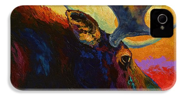 Alaskan Spirit - Moose IPhone 4 / 4s Case by Marion Rose
