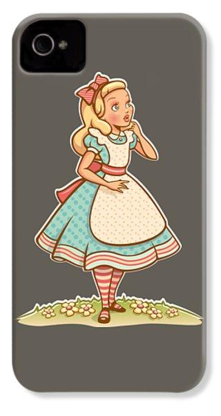 Alice IPhone 4 / 4s Case by Elizabeth Taylor