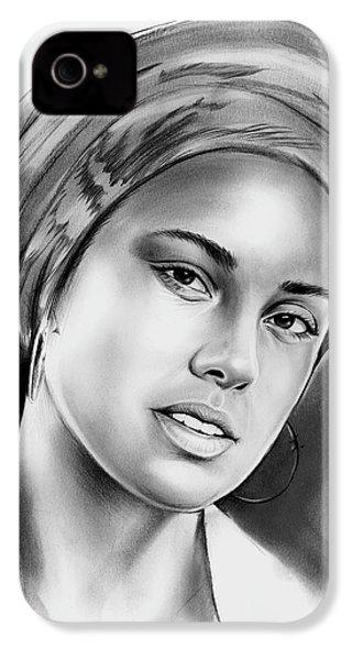Alicia Keys 2 IPhone 4 / 4s Case by Greg Joens