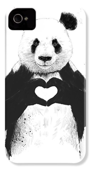 All You Need Is Love IPhone 4 / 4s Case by Balazs Solti
