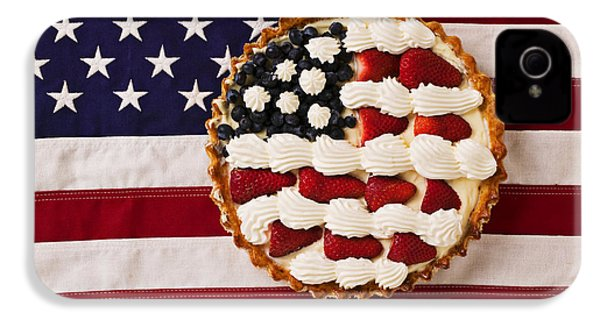 American Pie On American Flag  IPhone 4 / 4s Case by Garry Gay