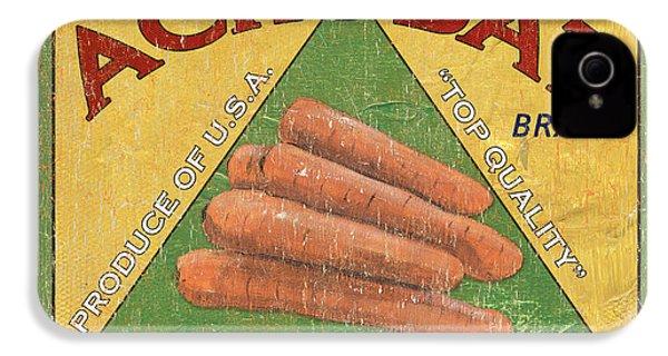 Americana Vegetables 2 IPhone 4 / 4s Case by Debbie DeWitt