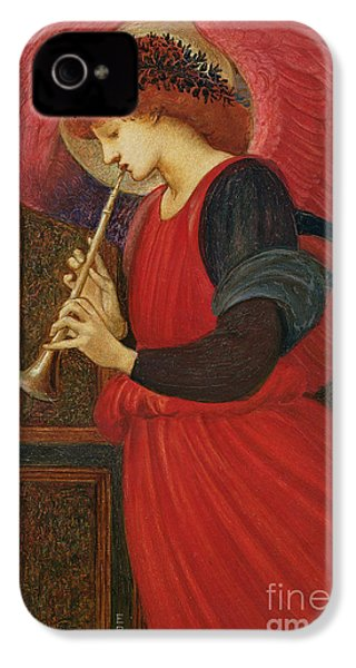 An Angel Playing A Flageolet IPhone 4 / 4s Case by Sir Edward Burne-Jones