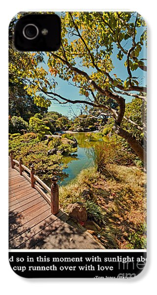 And So In This Moment With Sunlight Above IPhone 4 / 4s Case by Jim Fitzpatrick