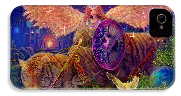 Angel Tarot Card Angel Fairy Dream IPhone 4 / 4s Case by Steve Roberts