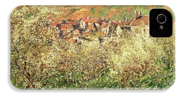 Apple Trees In Blossom IPhone 4 / 4s Case by Claude Monet