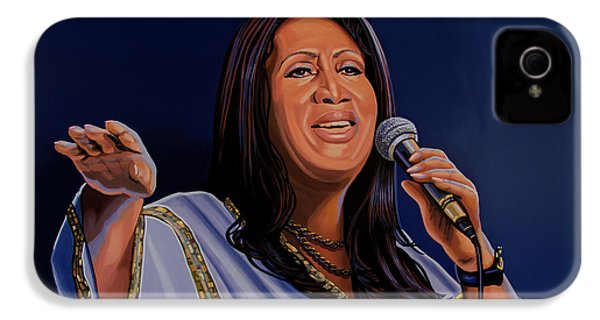 Aretha Franklin Painting IPhone 4 / 4s Case by Paul Meijering