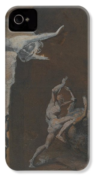 Ariadne Watching The Struggle Of Theseus With The Minotaur IPhone 4 / 4s Case by Henry Fuseli