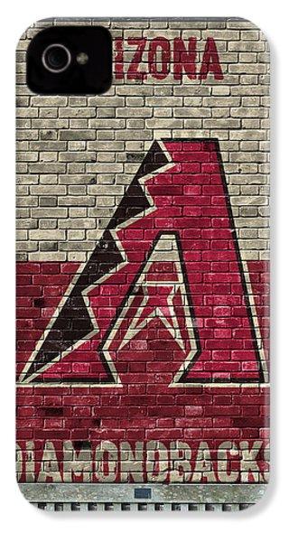Arizona Diamondbacks Brick Wall IPhone 4 / 4s Case by Joe Hamilton