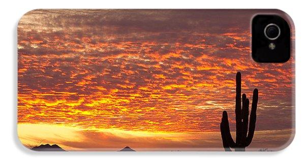 Arizona November Sunrise With Saguaro   IPhone 4 / 4s Case by James BO  Insogna
