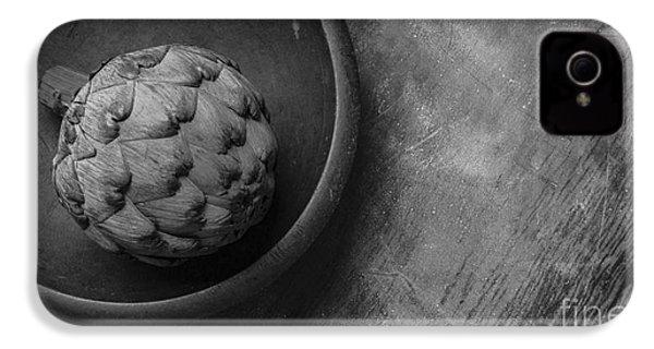 Artichoke Black And White Still Life Three IPhone 4 / 4s Case by Edward Fielding