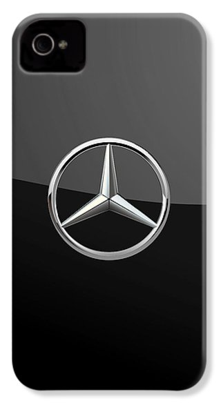 Mercedes-benz - 3d Badge On Black IPhone 4 / 4s Case by Serge Averbukh