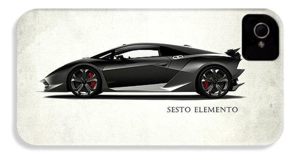 Lamborghini Sesto Elemento IPhone 4 / 4s Case by Mark Rogan