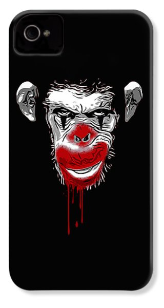 Evil Monkey Clown IPhone 4 / 4s Case by Nicklas Gustafsson