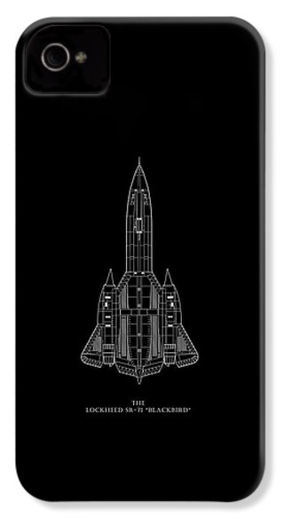 The Lockheed Sr-71 Blackbird IPhone 4 / 4s Case by Mark Rogan