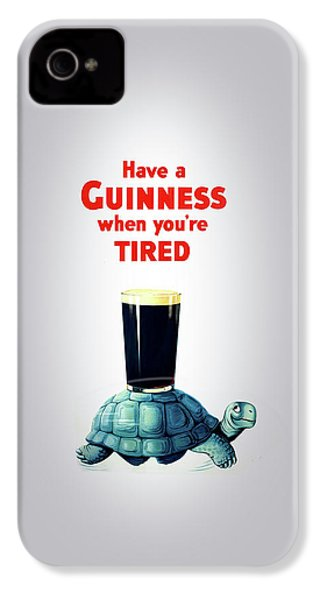 Guinness When You're Tired IPhone 4 / 4s Case by Mark Rogan