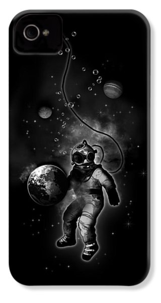 Deep Sea Space Diver IPhone 4 / 4s Case by Nicklas Gustafsson