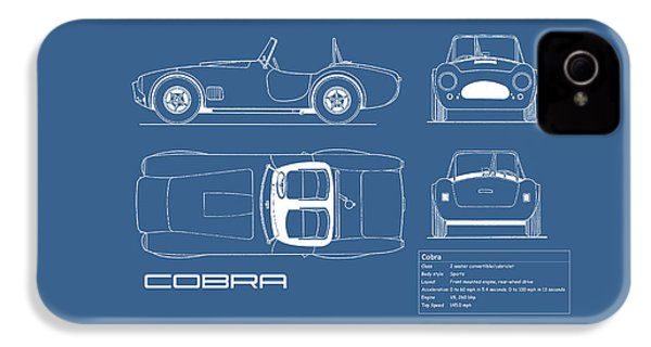 Ac Cobra Blueprint IPhone 4 / 4s Case by Mark Rogan