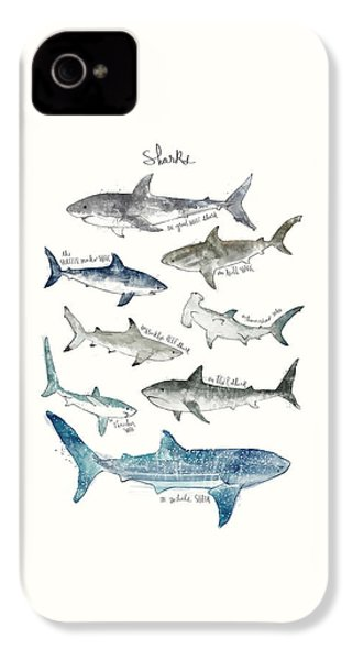 Sharks IPhone 4 / 4s Case by Amy Hamilton