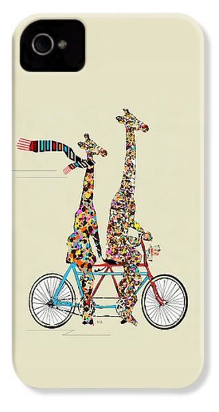 Giraffe Days Lets Tandem IPhone 4 / 4s Case by Bri B