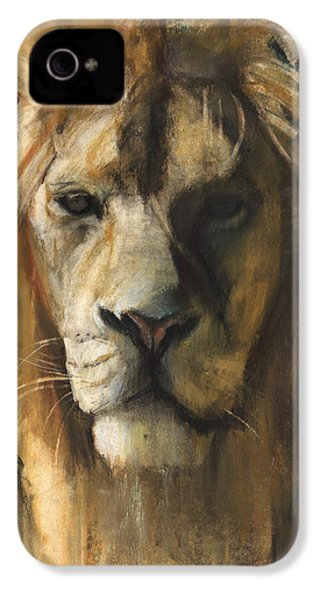Asiatic Lion IPhone 4 / 4s Case by Mark Adlington