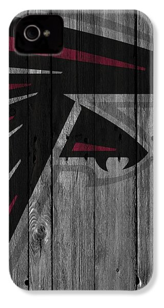Atlanta Falcons Wood Fence IPhone 4 / 4s Case by Joe Hamilton