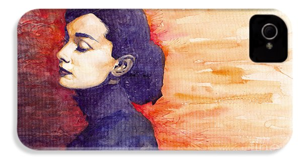 Audrey Hepburn 1 IPhone 4 / 4s Case by Yuriy  Shevchuk