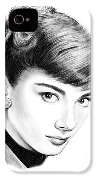 Audrey Hepburn IPhone 4 / 4s Case by Greg Joens