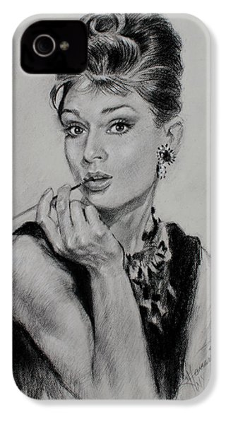 Audrey Hepburn IPhone 4 / 4s Case by Ylli Haruni