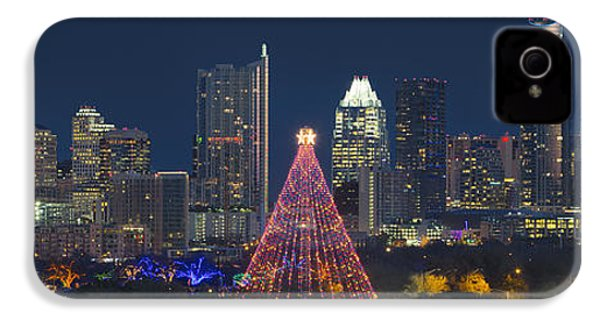 Austin Panorama Of The Trail Of Lights And Skyline IPhone 4 / 4s Case by Rob Greebon