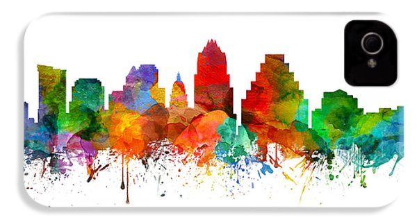 Austin Texas Skyline 21 IPhone 4 / 4s Case by Aged Pixel