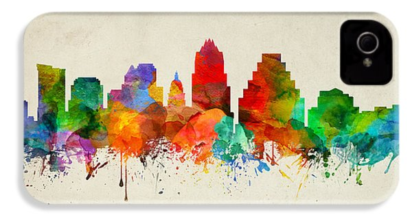 Austin Texas Skyline 22 IPhone 4 / 4s Case by Aged Pixel