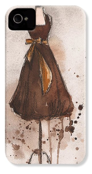 Autumn's Gold Vintage Dress IPhone 4 / 4s Case by Lauren Maurer