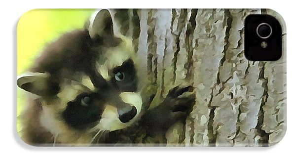 Baby Raccoon In A Tree IPhone 4 / 4s Case by Dan Sproul