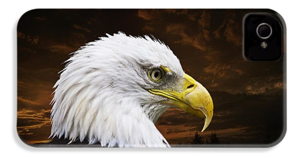 Bald Eagle - Freedom And Hope - Artist Cris Hayes IPhone 4 / 4s Case by Cris Hayes
