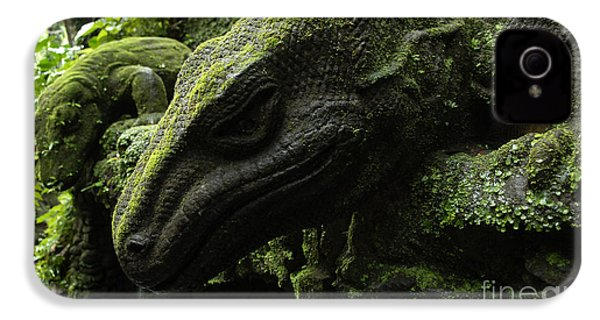Bali Indonesia Lizard Sculpture IPhone 4 / 4s Case by Bob Christopher