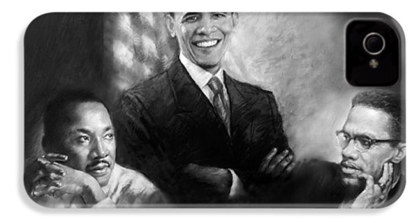 Barack Obama Martin Luther King Jr And Malcolm X IPhone 4 / 4s Case by Ylli Haruni