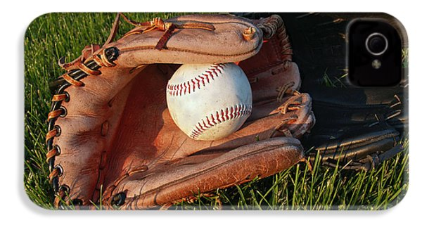 Baseball Gloves After The Game IPhone 4 / 4s Case by Anna Lisa Yoder