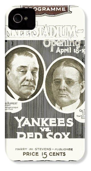 Baseball Program, 1923 IPhone 4 / 4s Case by Granger